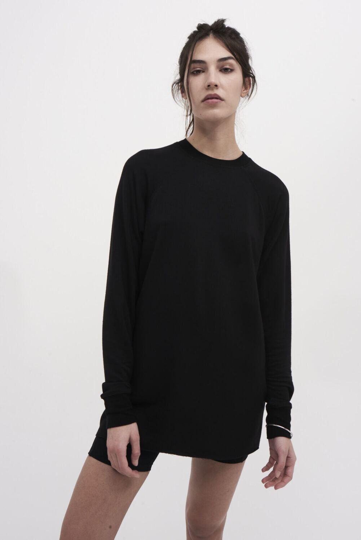 Splits59, Warmup Fleece Tunic, Black