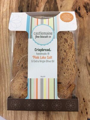 Pink Lake Salt Sourdough Crackers