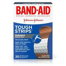 Band-Aid Tough Strips 20Pk