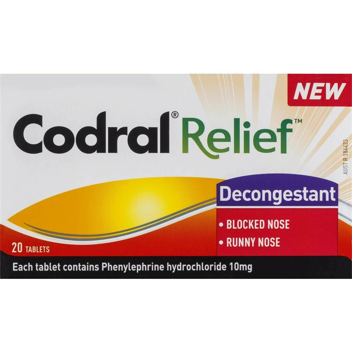 Codral Relief Decongestant 20PK