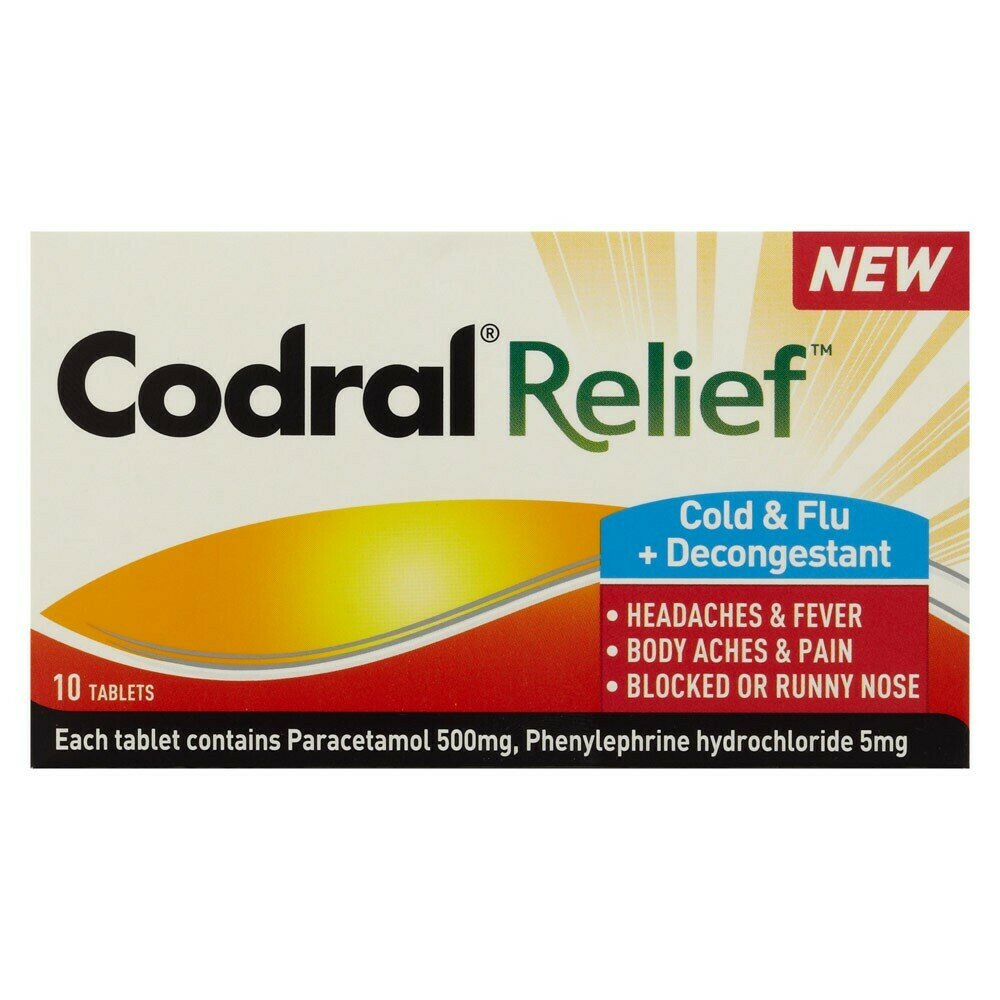 Codral Relief Cold & Flu 10 Tablets