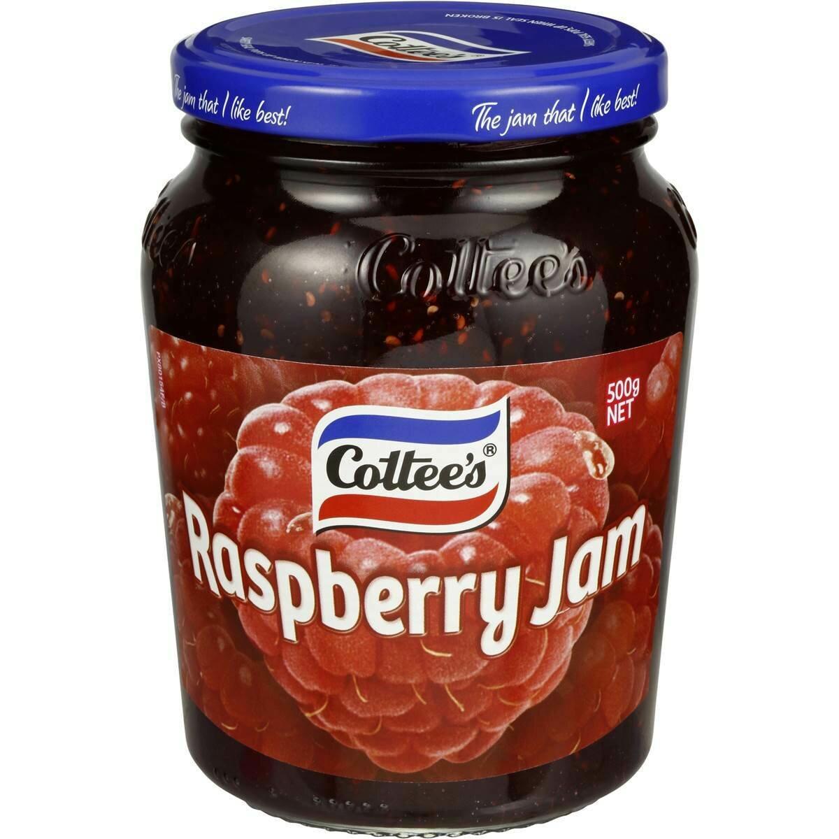 Cottees Raspberry Jam 500G