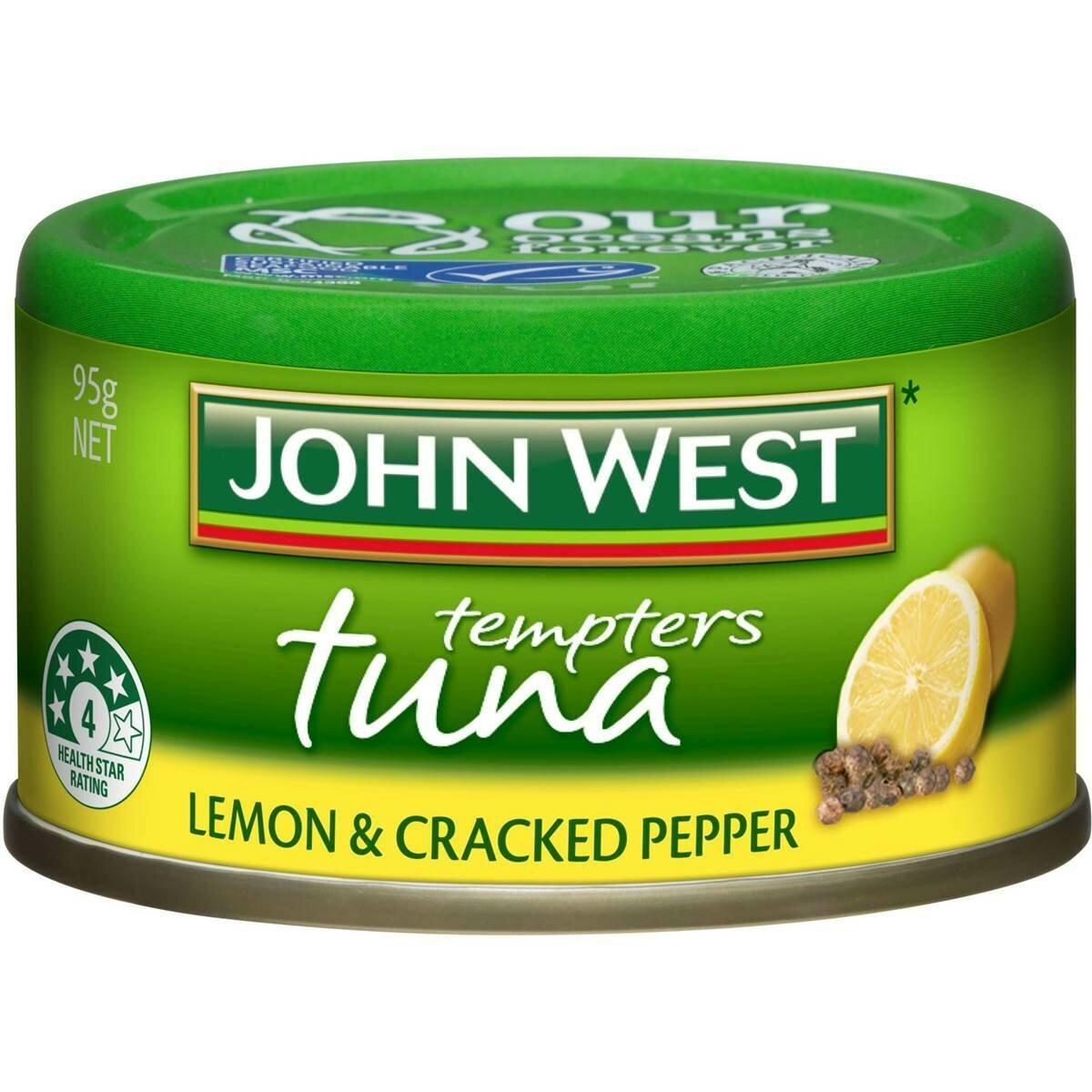 John West Tuna Lemon & Cracked Pepper 95g