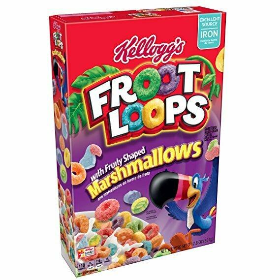 Kelloggs Froot Loops Marshmallows 358g