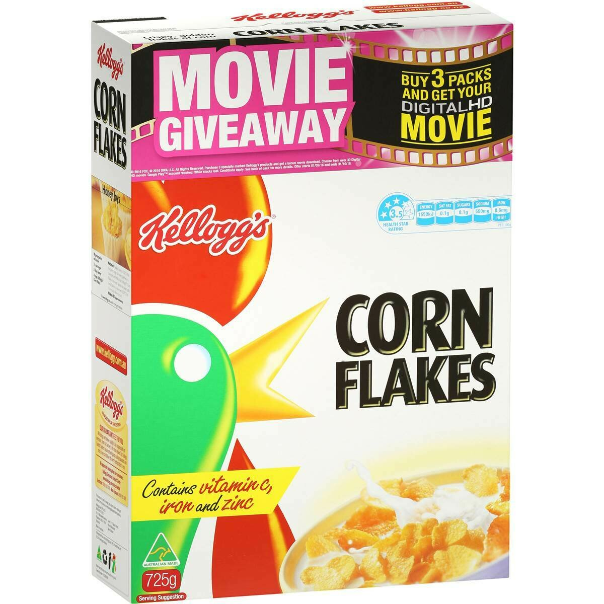 Kellogs Cornflakes 725G