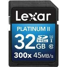 Lexar Platinum 32g SD Card 1pk