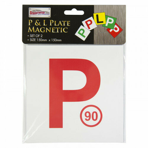 Magnetic P Plate red