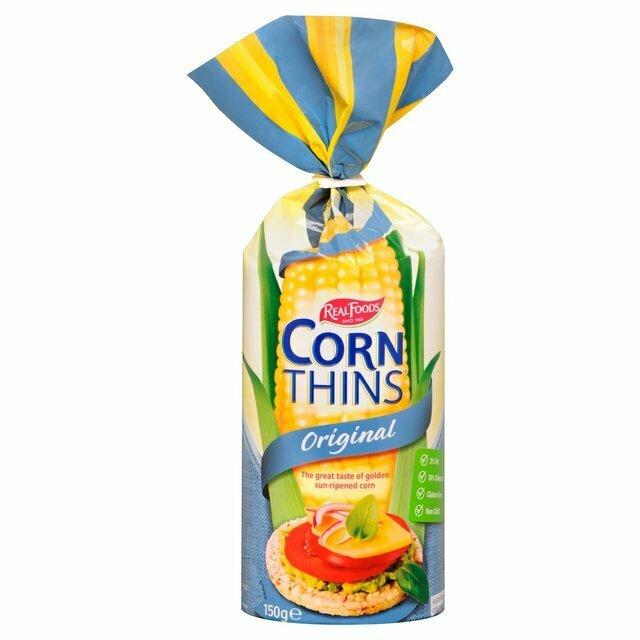 Corn Thins Whole Grain 150G