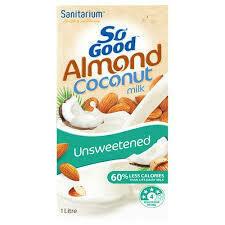 So Good Almond Coconut Milk UnSweetened 1L
