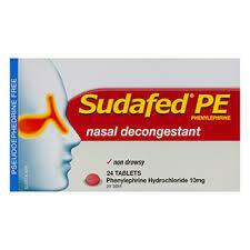 Sudafed PE Nasal Decongestant 20pk