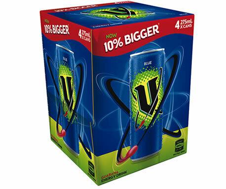 V Energy Drink Blue 275ML 4pk