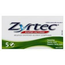 Zyrtec Rapid HayFever Tablets