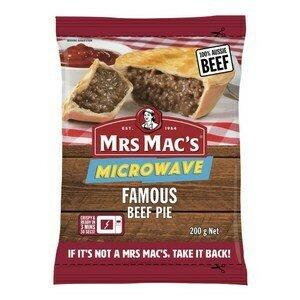 Mrs Macs Microwave Beef Pie200g