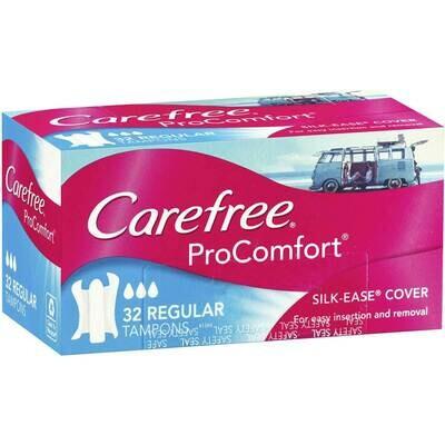 Carefree Tampons Slim Regular 32pk