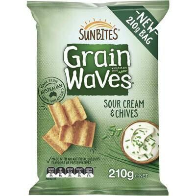 Grain Waves Sour Cream & Chives 210g