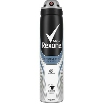 Rexona Men Antiperspirant Aerosol Deodorant Invisible Ice Fresh