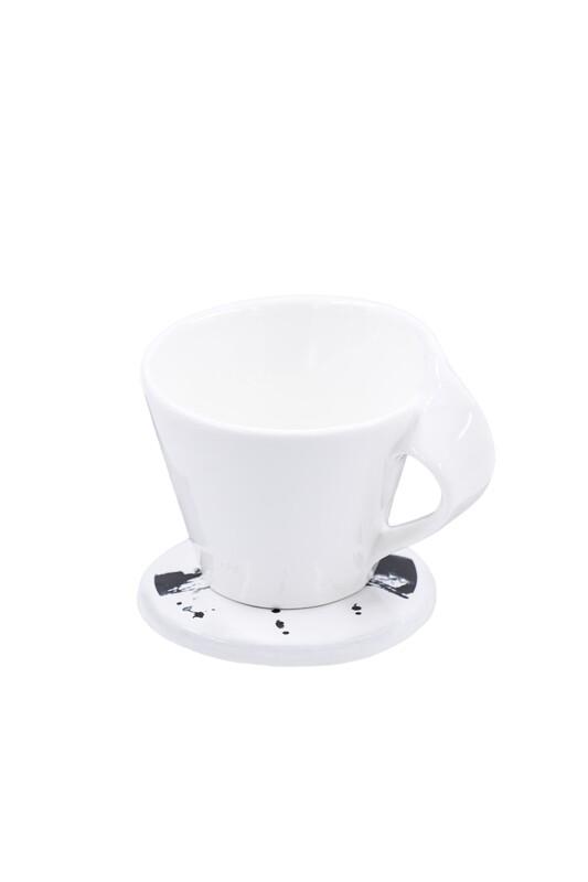 Autorinis keramikos padėkliukas su puodeliu