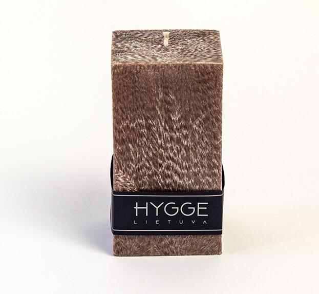 HYGGE ruda kvepianti žvakė