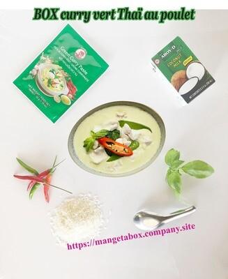 BOX curry vert Thaï au poulet