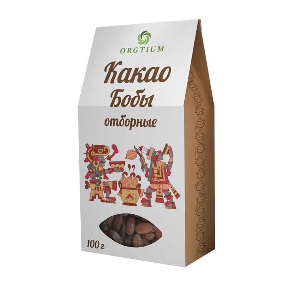 Какао-бобы Форастеро отборные, 100г