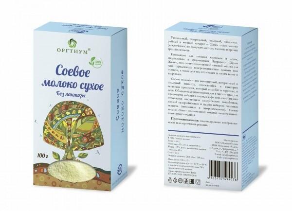Соевое молоко сухое, без лактозы, 100 г