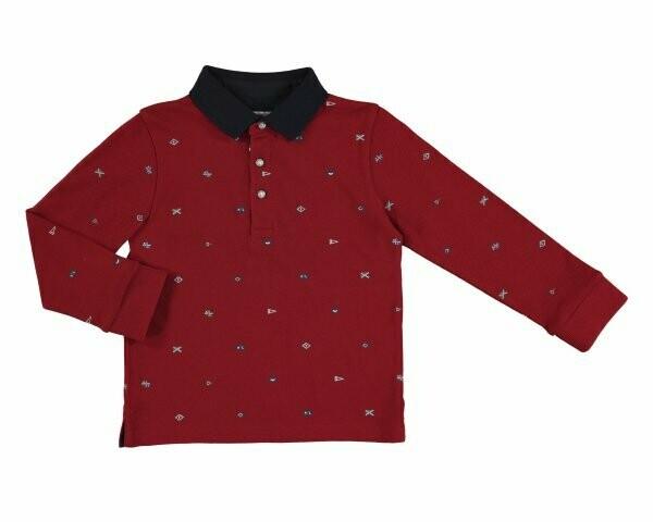 Mayoral Boys Long-Sleeved Polo Shirt (4131)