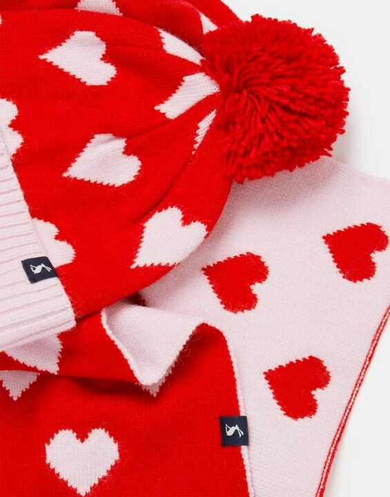 Joules Snowy Girls Hat & Scarf Set
