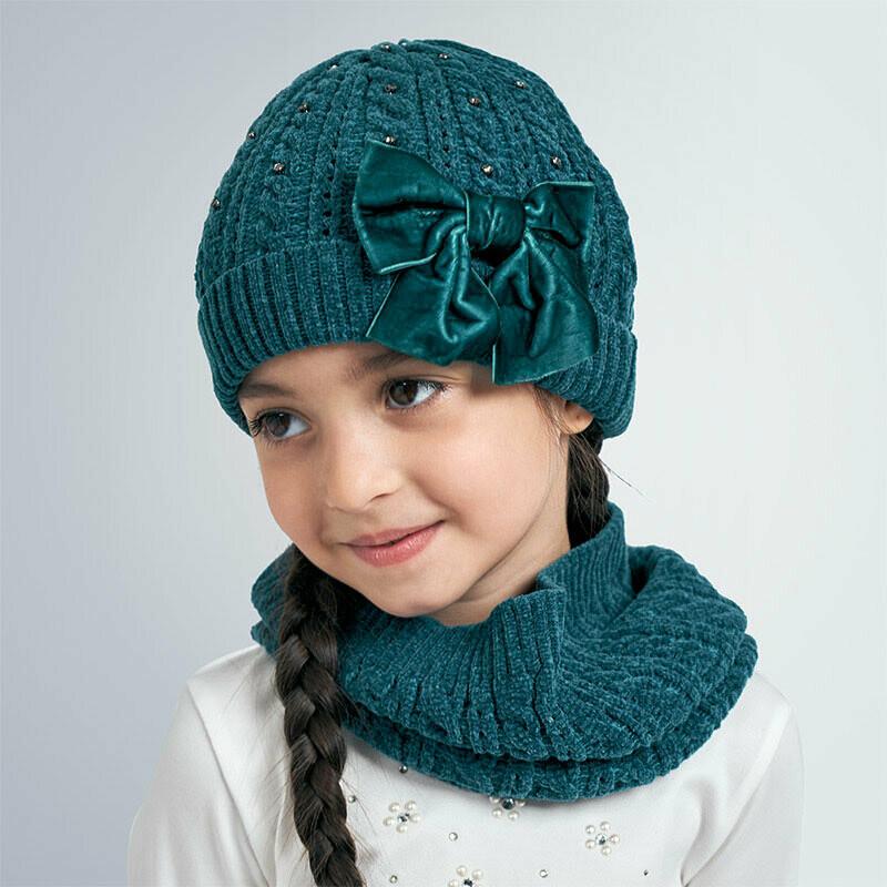 Mayoral Girls Hat & Snood Set K (10896)