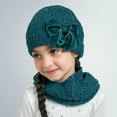 Mayoral Girls Hat & Snood Set K (10896)