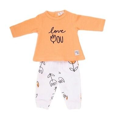 Babybol Orange Dog 2 Piece Set (11813)