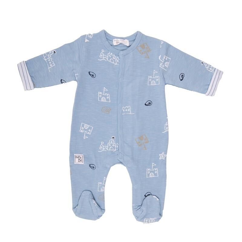 Babybol  Blue Seaside Babygrow (11823)
