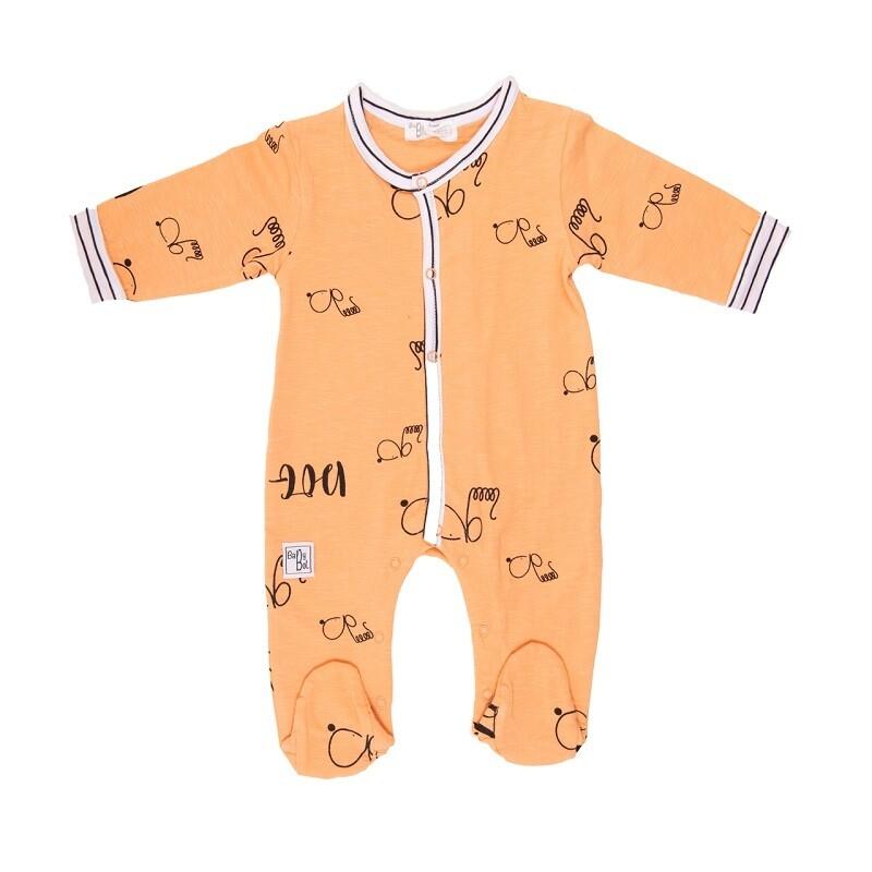 Babybol Orange Dog Babygrow (11824)