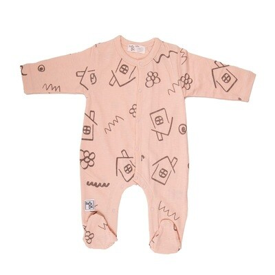 Babybol Peach House Babygrow & Hat (11818)