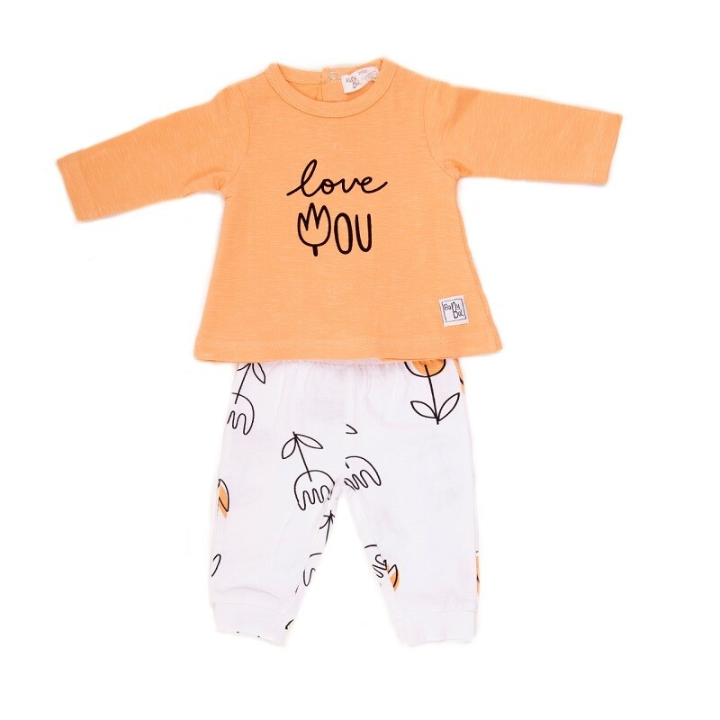Babybol  Orange Flower 2 Piece Set (11807)