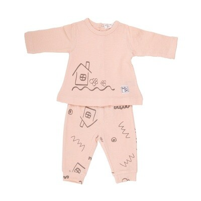 Babybol Peach House 2 Piece Set  (11800)
