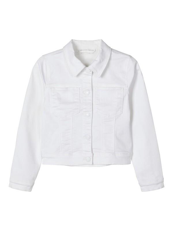 Name It Girls White Denim Jacket K(13174656)