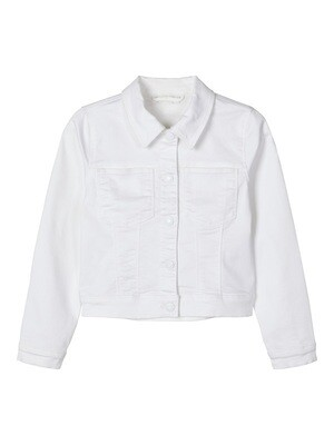 Name It Girls White Denim Jacket K(13174656)