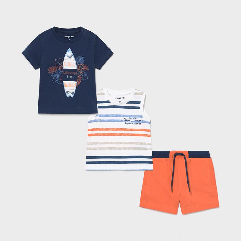 Mayoral Boys 3 Pcs Shorts Set (1672)
