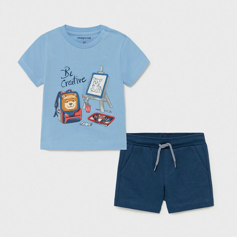 Mayoral Boys 2 Pc Shorts Set (1671)