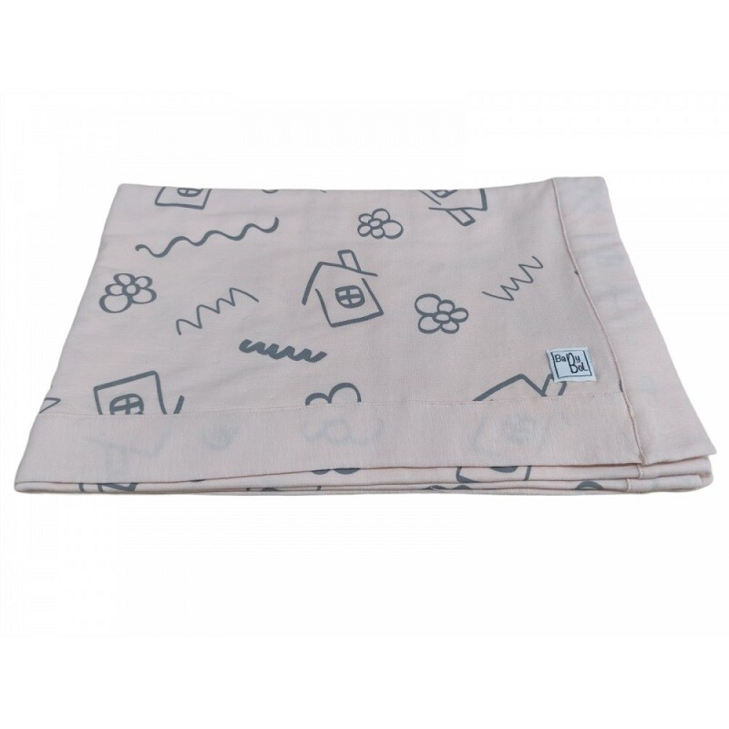 Babybol Peach House Blanket (00221)