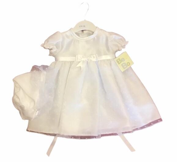 Bee Bo Short Length Christening Dress Polka Dot