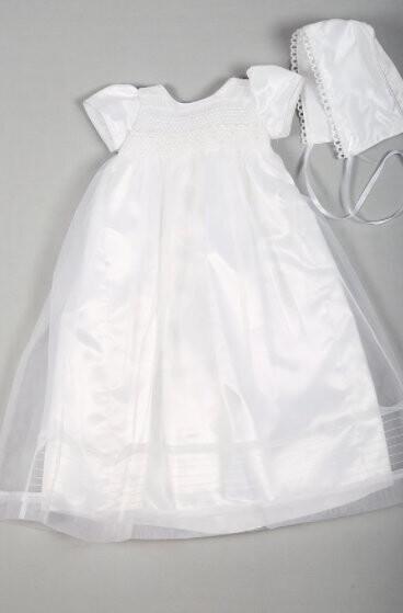 Beau Kid Christening Gown & Bonnet (8202)