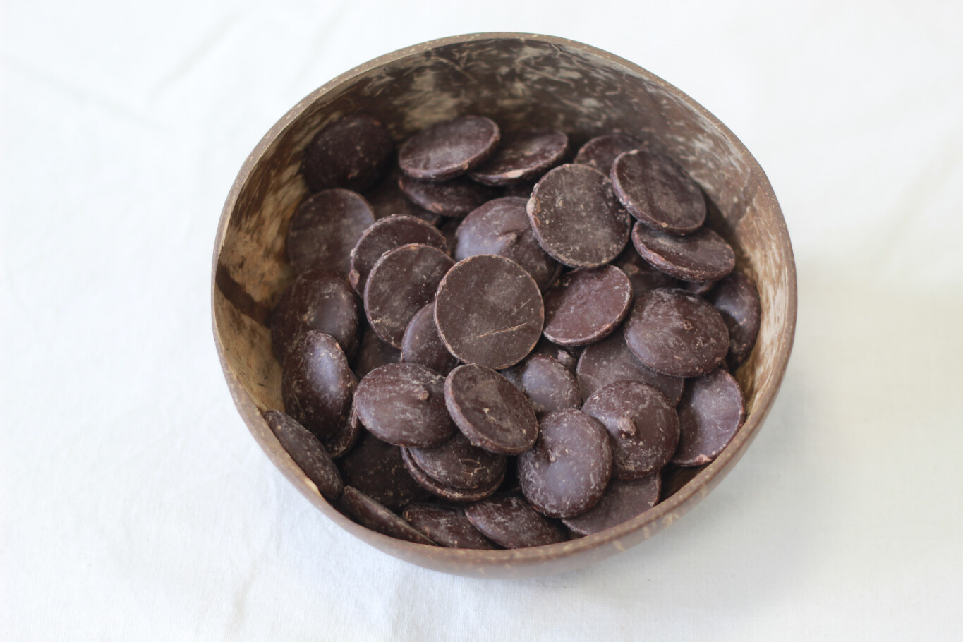 55% Organic Dark Couverture Chocolate Buttons 100g