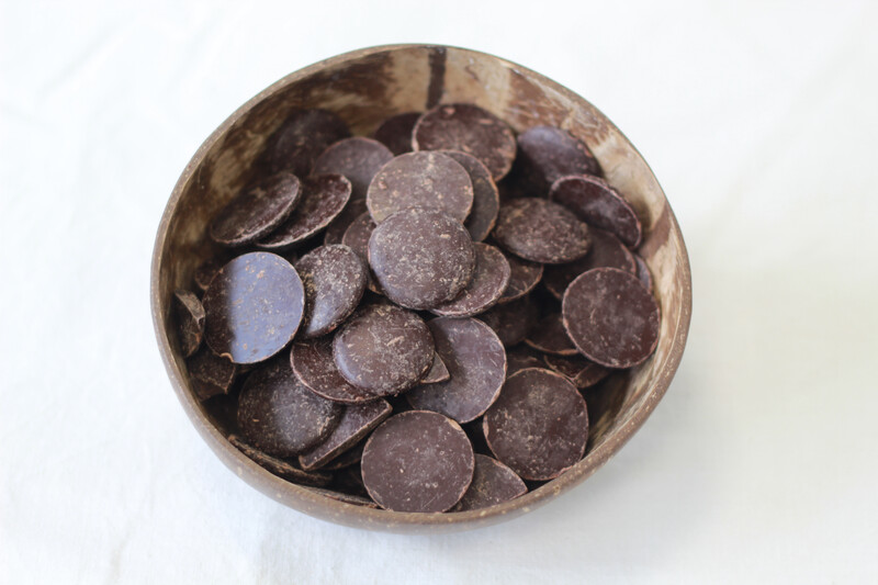 73% Organic Dark Couverture Chocolate Buttons 100g
