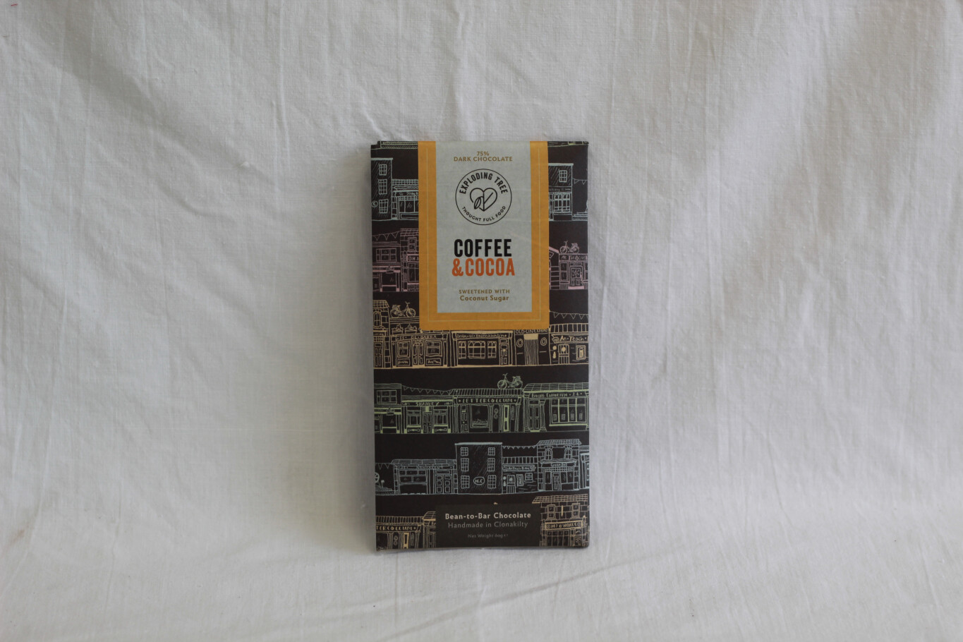 Exploding Tree Coffee and Cocoa 75% Dark Chocolate