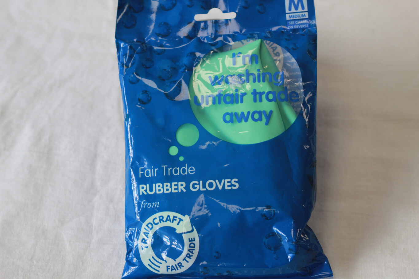 Fair Trade Rubber Gloves Size M