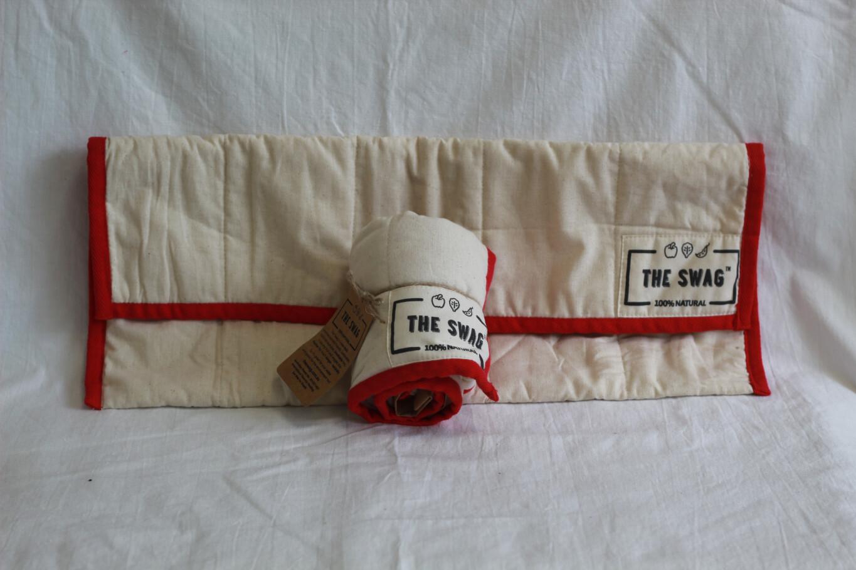 HALF PRICE!!!!!The Swag Bag Long Red Trim