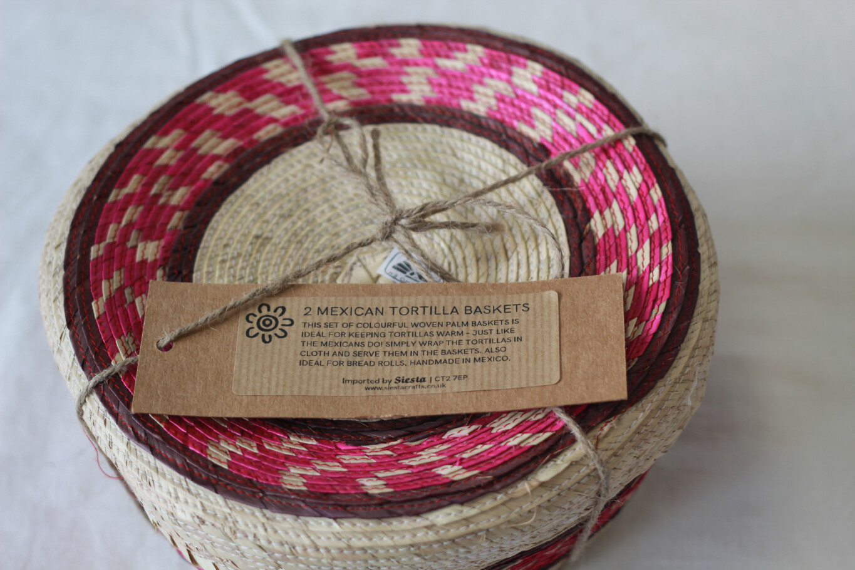 Siesta Mexican Tortilla Baskets 2 Pack