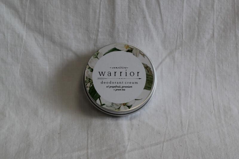 Warrior Deodorant Tins Sensitive