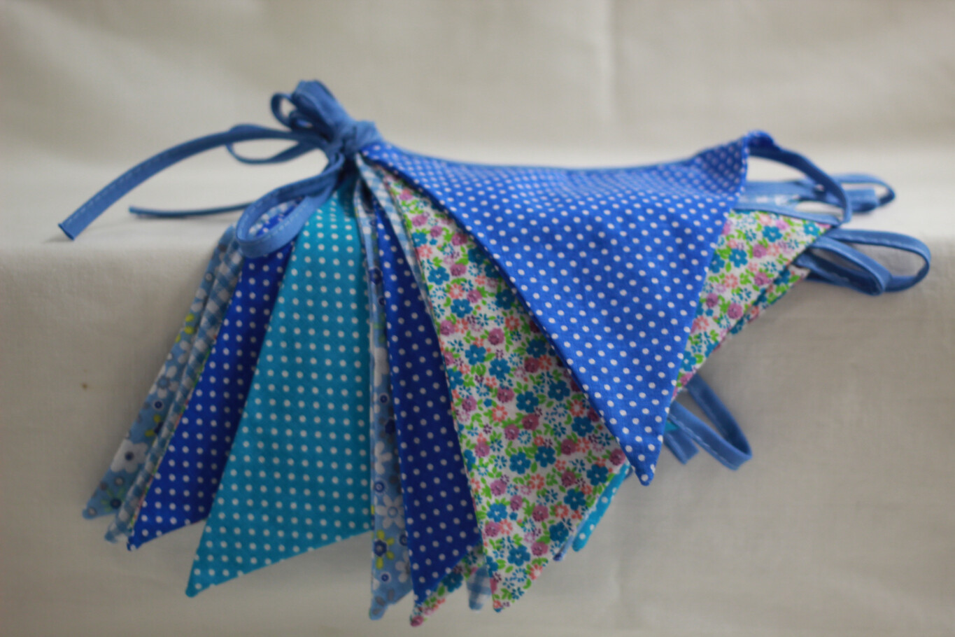 Reusable Cotton Bunting Pink/Blue